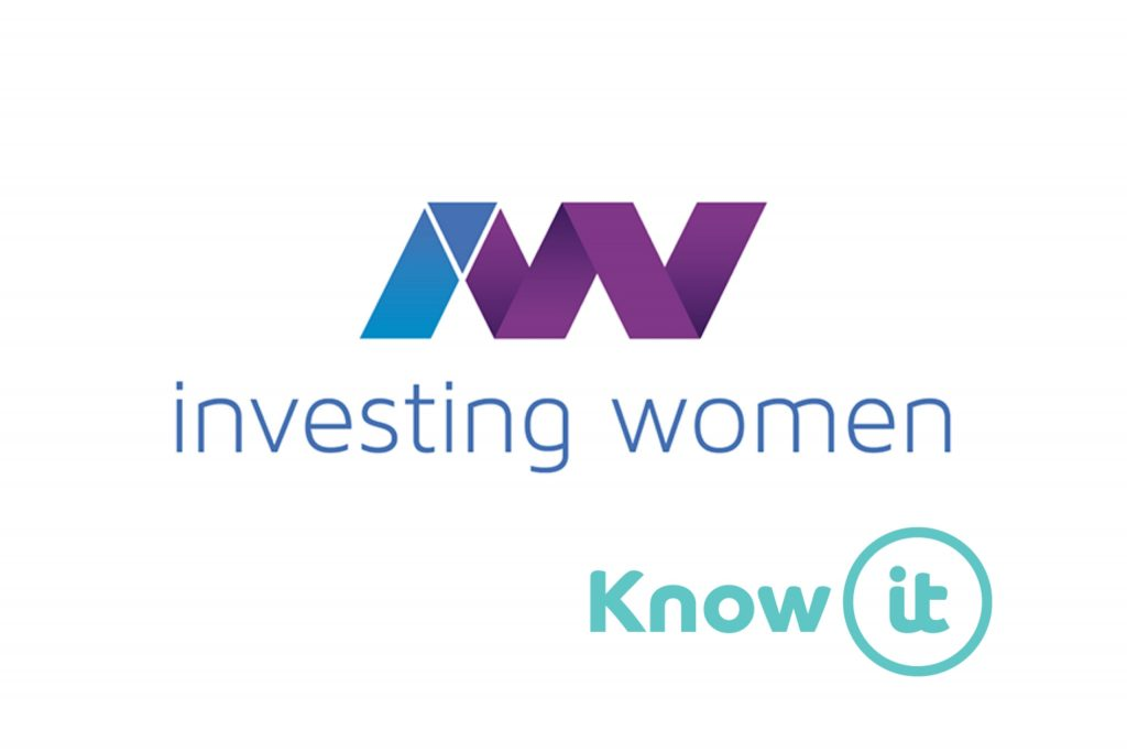 Image with Know-it logo and Investing Women logo