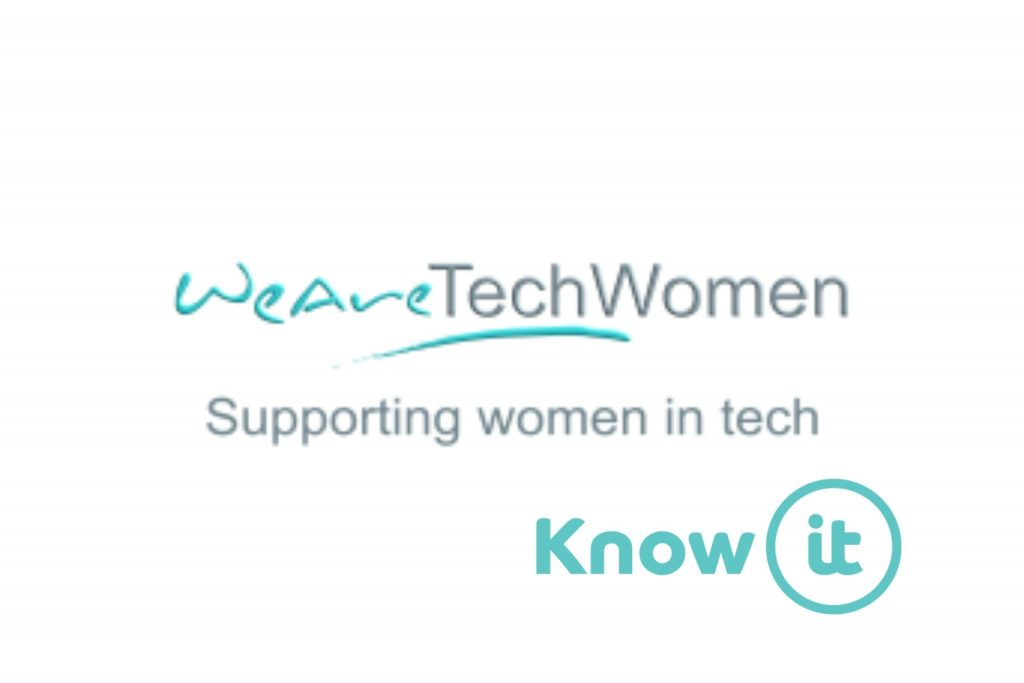 Image with Know-it logo and We Are Tech Women
