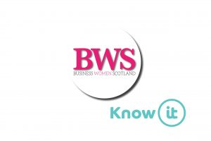 Image with Know-it logo and Business Women Scotland Logo