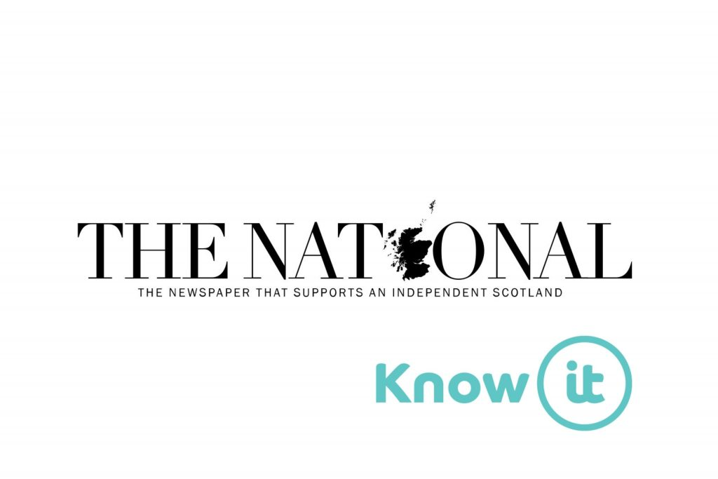 Image with Know-it logo and The National Logo