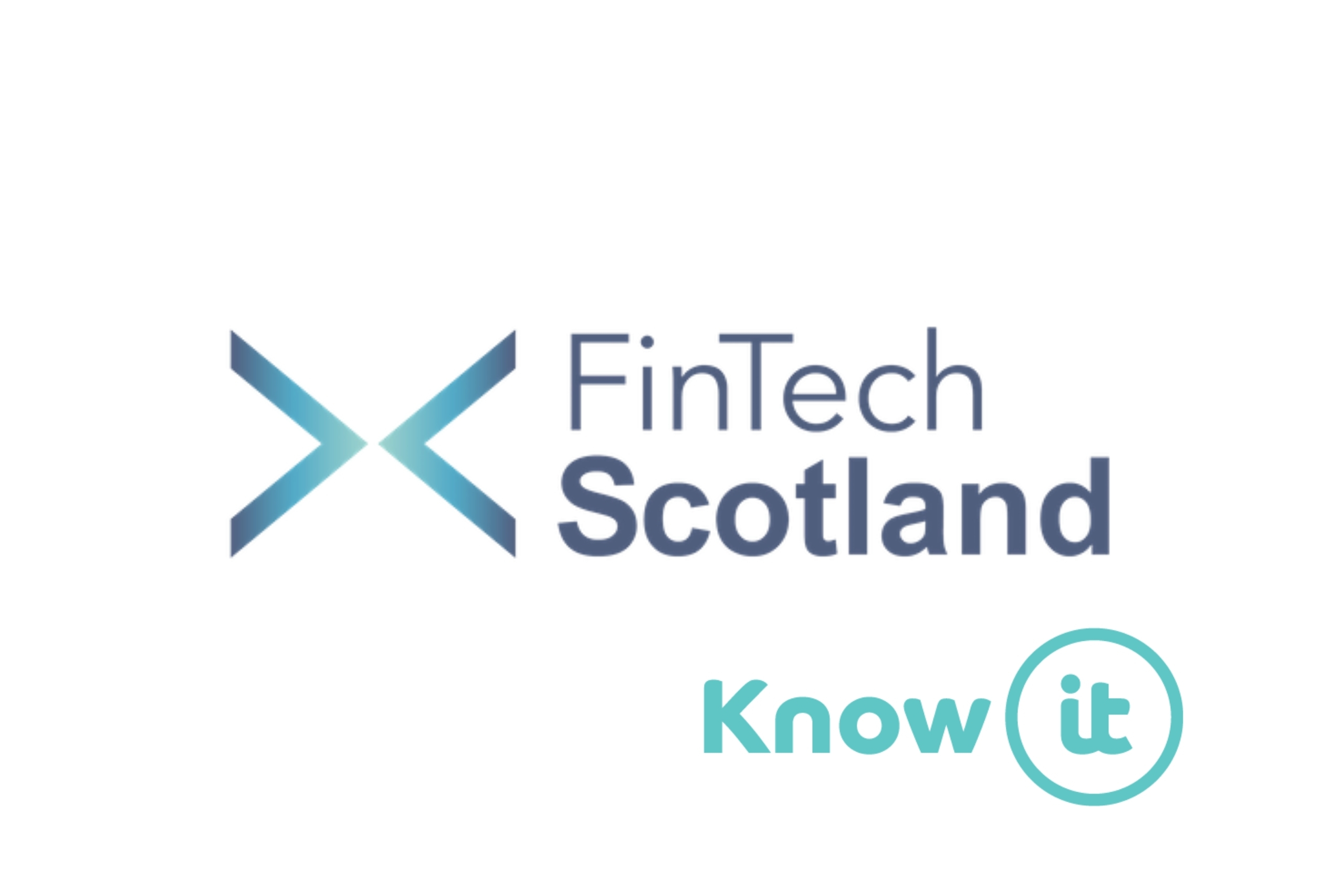Image with Know-it logo and fintech scotland logo