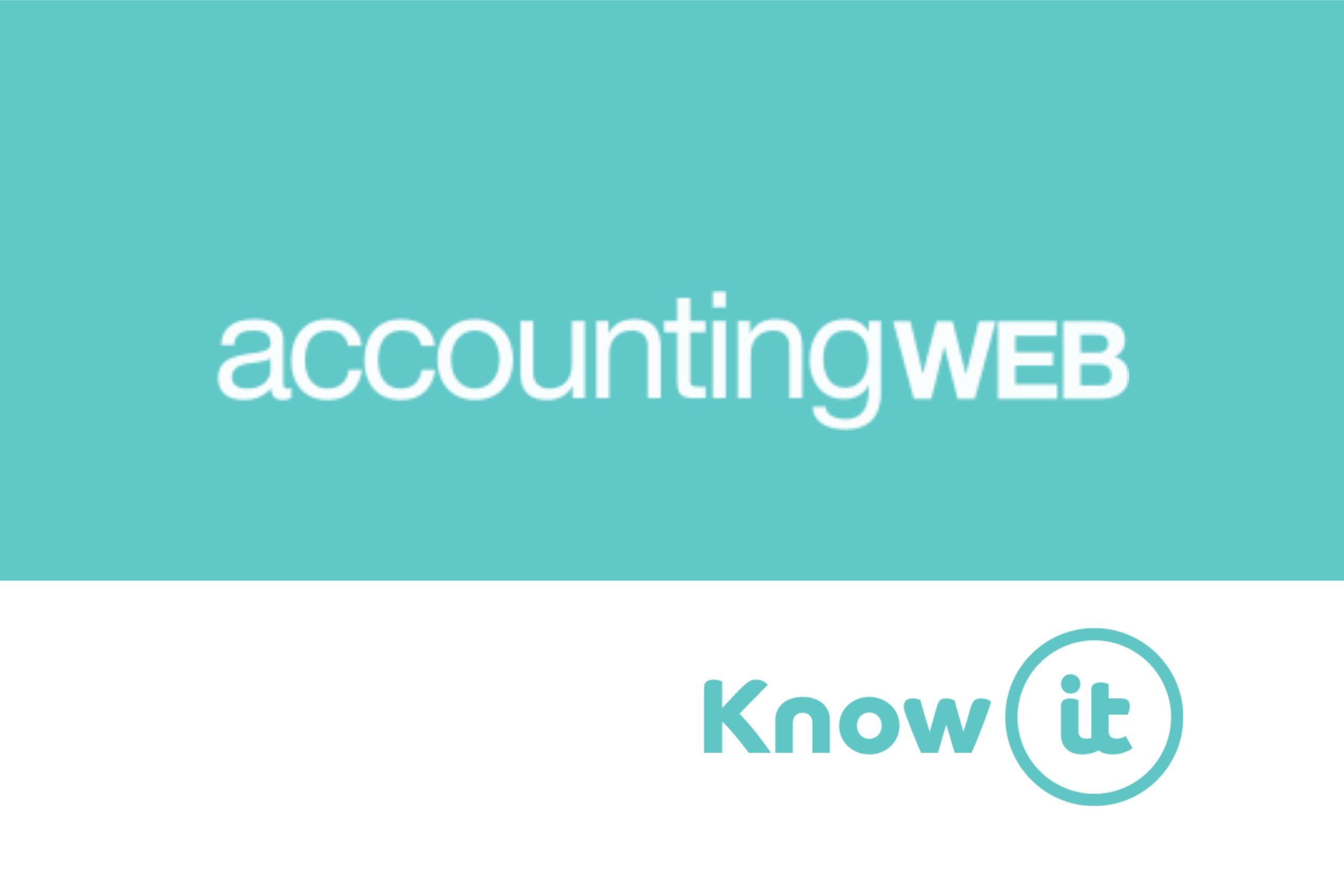 Know-it logo alongside Accountweb logo