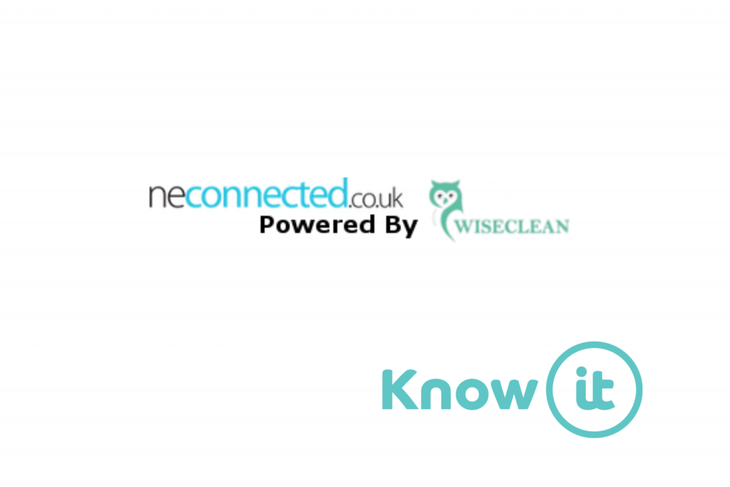 graphic showing neconnected logo and know-it logo