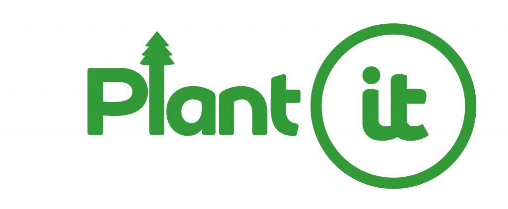 Plant-it logo for our tree planting initiative